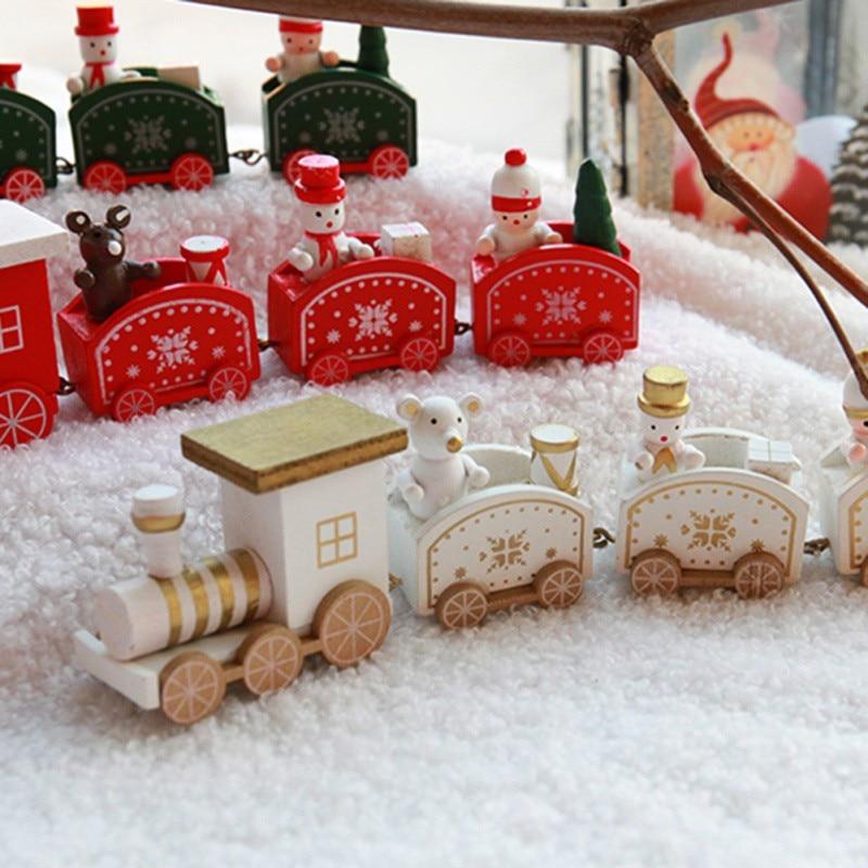 2019 Новый рождественский Деревянный Маленький поезд игрушки Детский сад Праздничная Пирамидка дерево натуральный Рождественский подарок