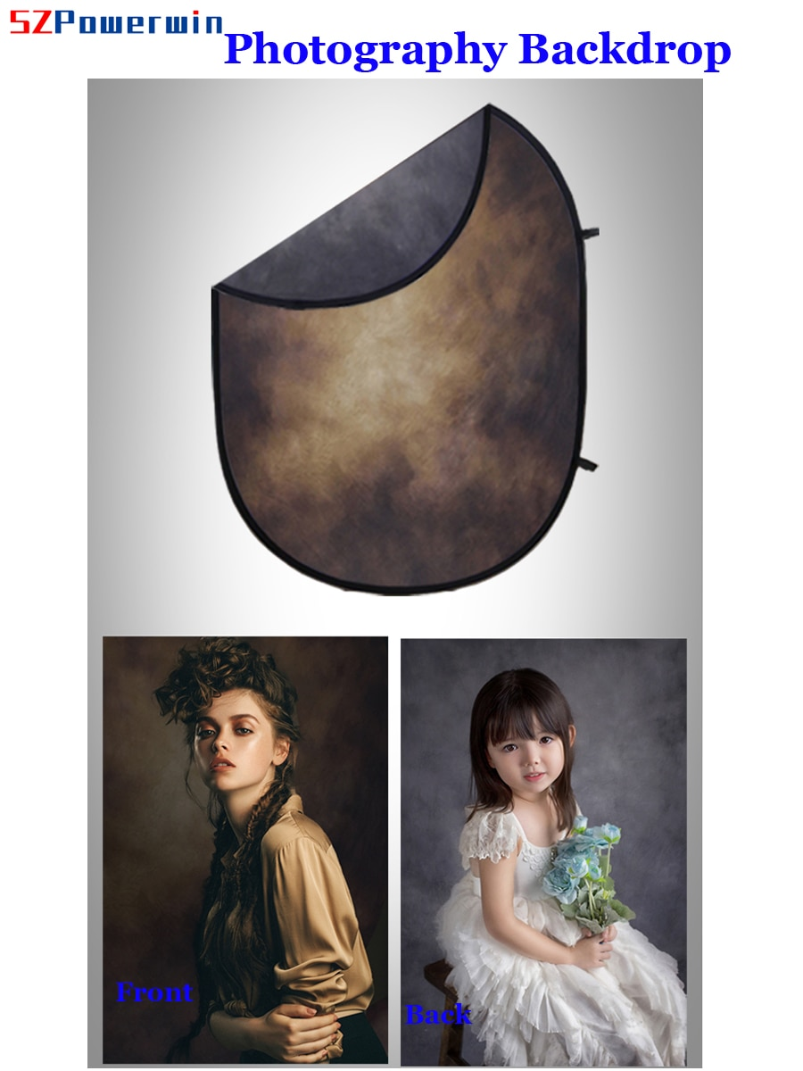SZPowerwin 150x200cm 5ftx7ft Flannel Dual Side Photography Backdrop Pannel Chroma Key For Photo Studio Kit Background Stand enlarge