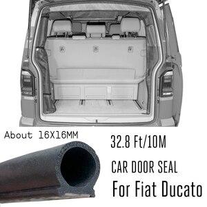 Image 1 - D форма 10 м уплотнение двери автомобиля прокладка EPDM резиновые звукоизоляционные окна загрузки багажник для Fiat Ducato 250 290 Peugeot боксер Citroen реле