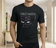 New Popular DAG NASTY Logo Black Purple Rock Band Men Black T-Shirt S-3XL