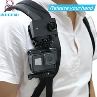 360 degree quick release rotary backpack hat clip fast clamp mount for gopro hero 9 8 7 6 5 4 3 for go pro sports action cameras