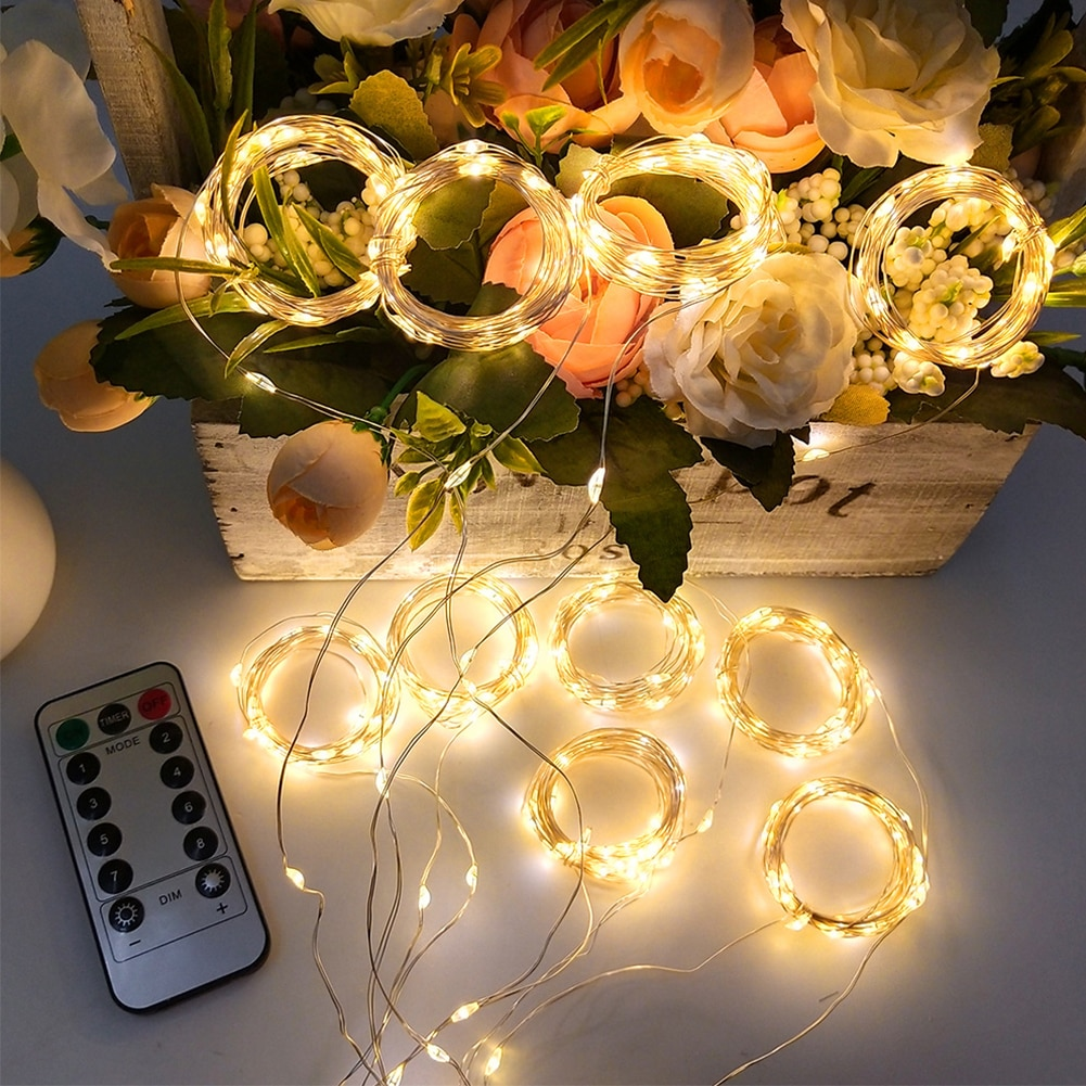 3M LED Fairy String Lights LED Curtain Light Fairy Lamp String Wall Decorations With Remote Party For Bedroom Party Wedding