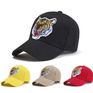 Hat Ladies  Tide Brand Tiger Head Embroidery Caps Fashion Personality Outdoor Casual Baseball Cap Men