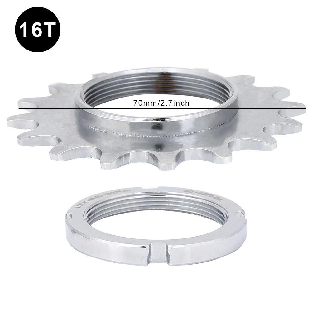 Envío Gratis 13 T/14 T/15 T/16 T dientes de una sola velocidad rueda libre volante rueda dentada accesorios de bicicleta acero duradero