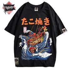 2020 Japonais Harajuku T-Shirt Dété Pour Hommes Hip Hop T-shirts Nouilles Navire Dessin Animé tshirts streetwear Manches Courtes haut décontracté Coton