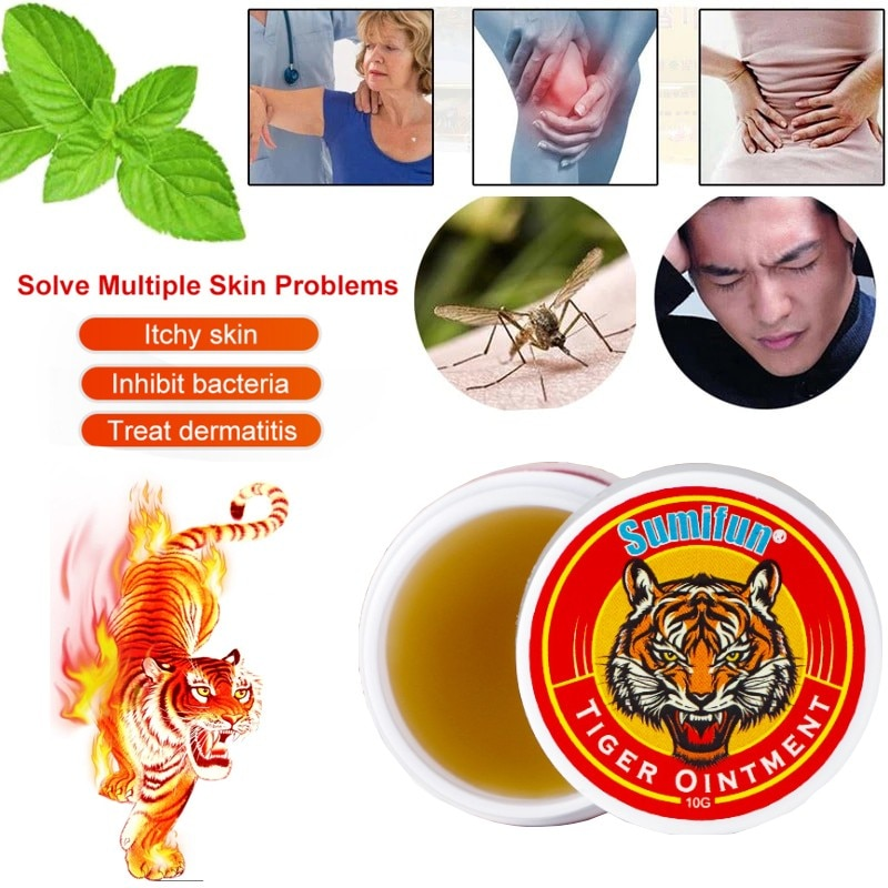 1Pcs Tiger Balm Cooling Oil Headache Dizziness Stuffy nose Relief Arthritis Joint Muscle Medical Plaster Tiger Ointment