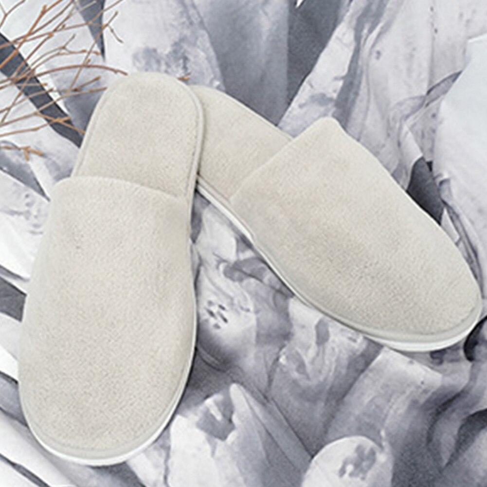 Zapatillas antideslizantes de Interior para hombre y mujer, zapatillas suaves desechables de terciopelo Coral para uso en el Hotel o en casa
