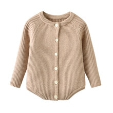 Autumn and winter new baby rabbit hair core spun yarn knitted flat top top striped long sleeve Jumps