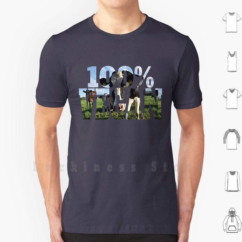 Camiseta de 100% de vaca vegana para granja, artesanal de talla grande...