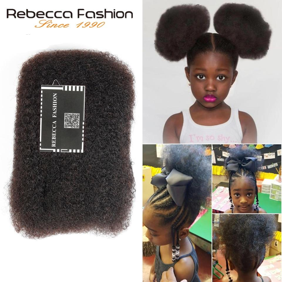 Rebecca Monogolian Remy Afro kinky Curly Bulk Human Hair For Braiding 1 Bundle 50g/pc Natural Color #2 #4 #30 #99j Braids Hair