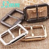 6 pcs blackgunmetalsilvergold center bar buckle sliders webbing purse bag handbag 32mm buckles strap keeper