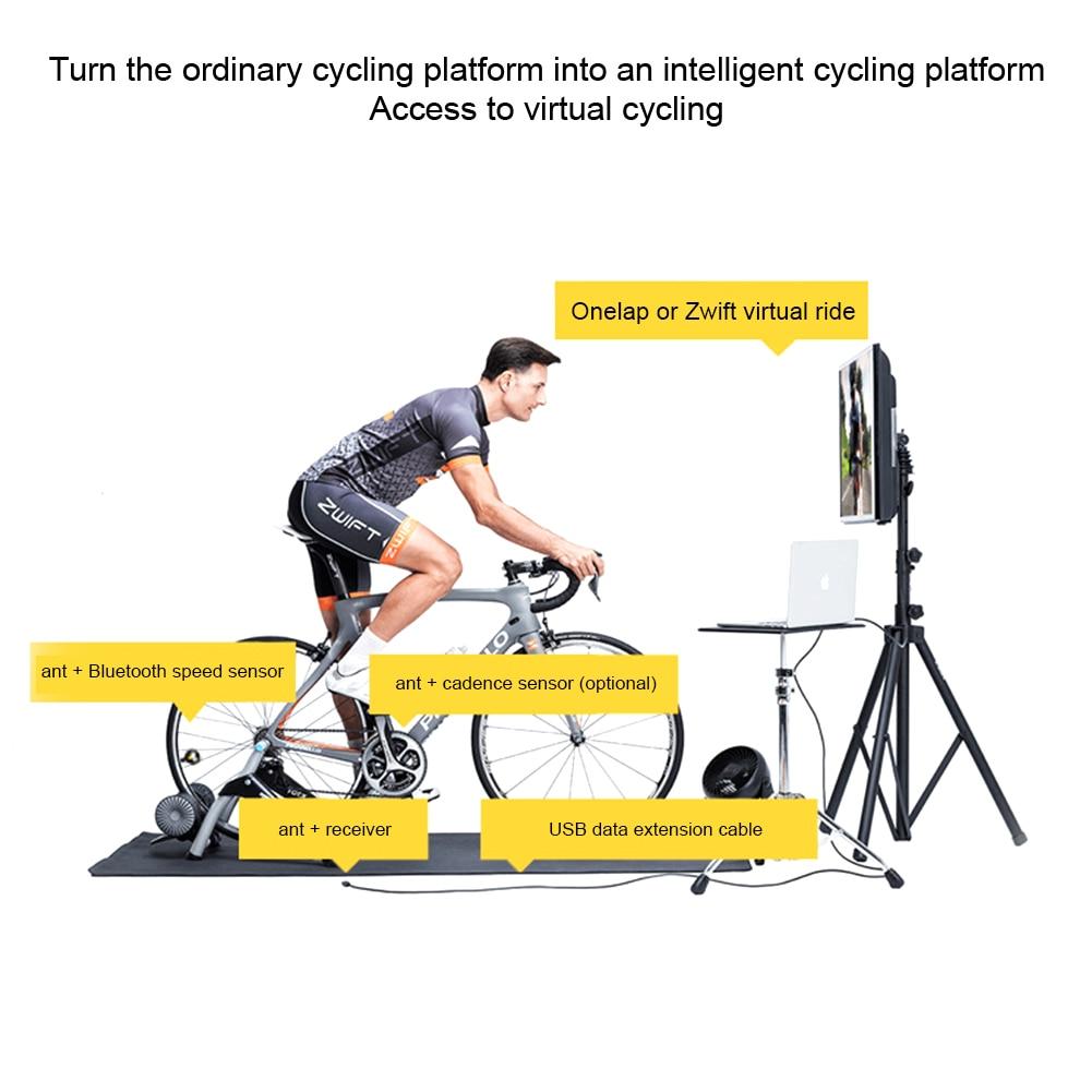 Accesorios de entrenador de bicicleta adaptador liviano Bluetooth Usb Ant Stick bicicleta ordenador transmisor receptor inalámbrico para Garmin