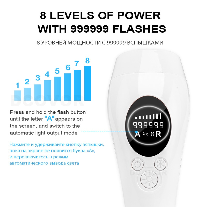 New 999999 Flashes  Painless Ice Cold IPL Epilator Permanent IPL Hair Removal  Photoepilator Electric Laser Epilator depiladora enlarge
