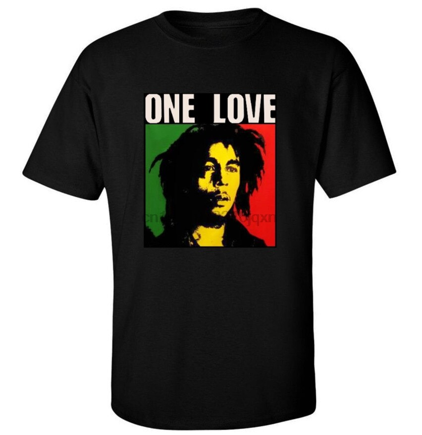 Одна любовь Боб Марли футболка Марли регги, Ямайка Графический Футболка Новинка Harajuku футболка