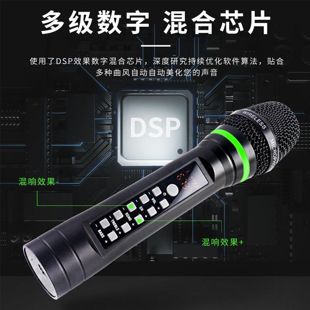 Universal Professional Wireless Microphone NXG-G8 Family Karaoke  Handheld 4 Channels Metal Body Lithium Battery Receiver 150M enlarge