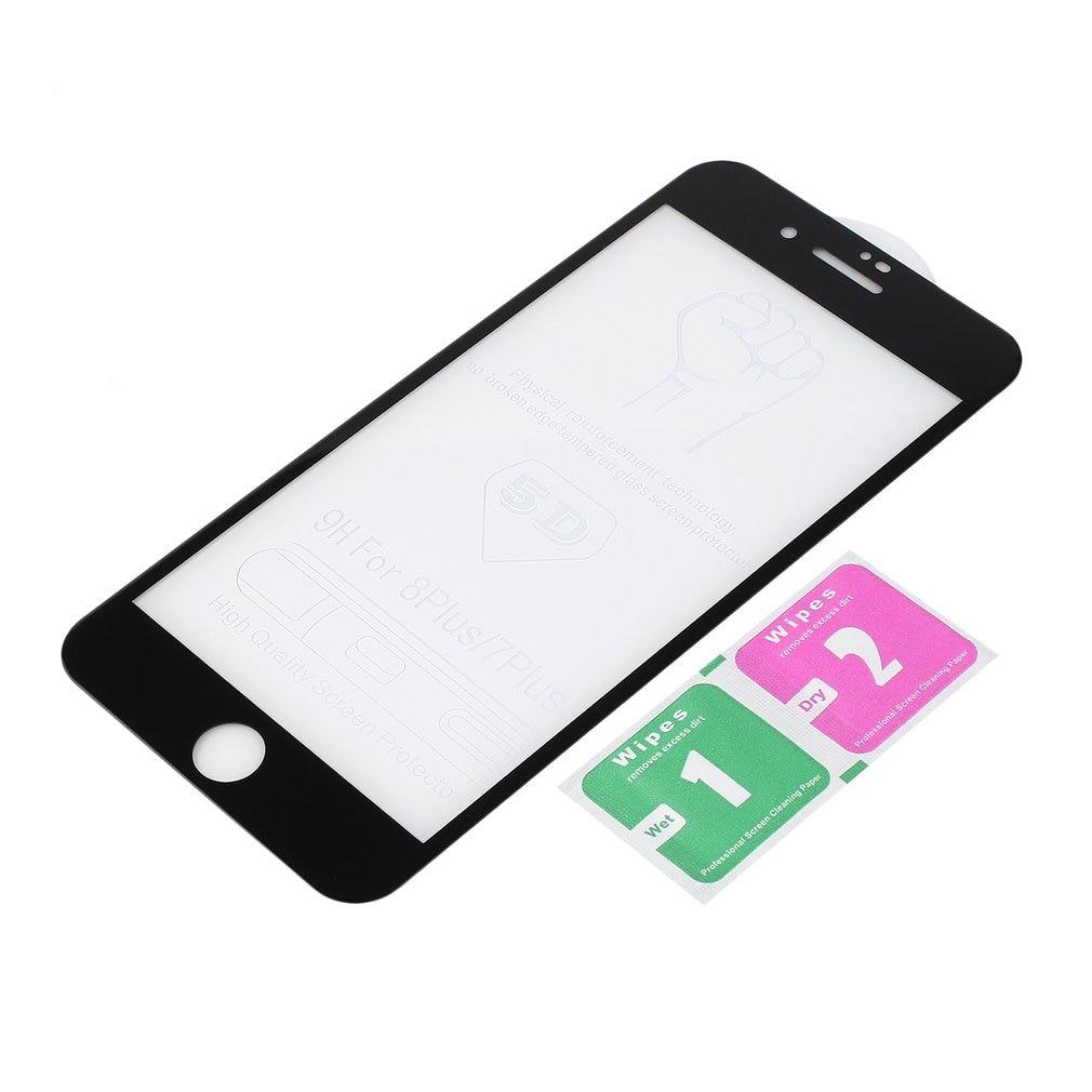 Protecteur d'écran, couverture complète 5D, Film Ultra-fin, en verre trempé 9H, conçu pour iPhone X et 6/6s/7/8 Plus et 6/6s/7/8