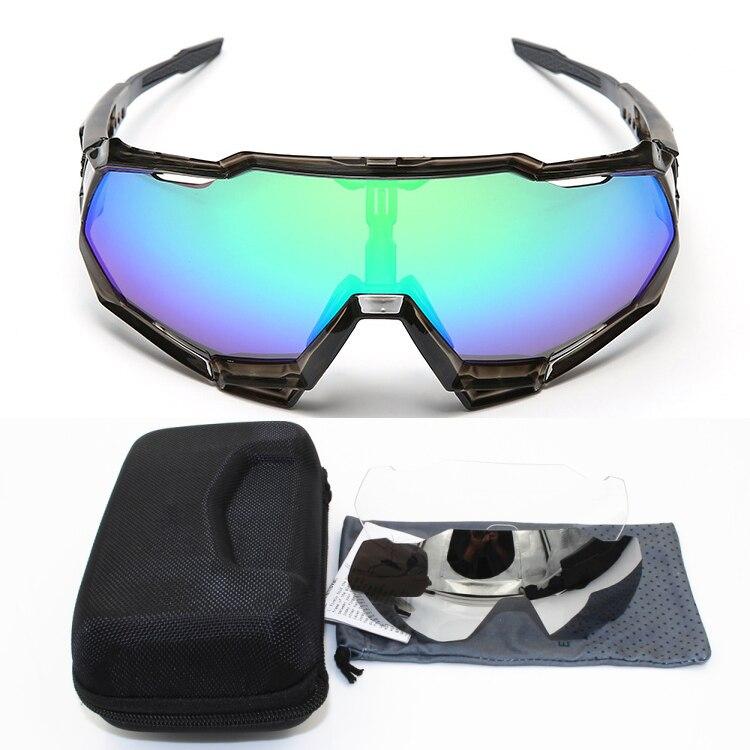 Gafas de sol deportivas para bicicleta de montaña, 3 lentes, UV400, sagan