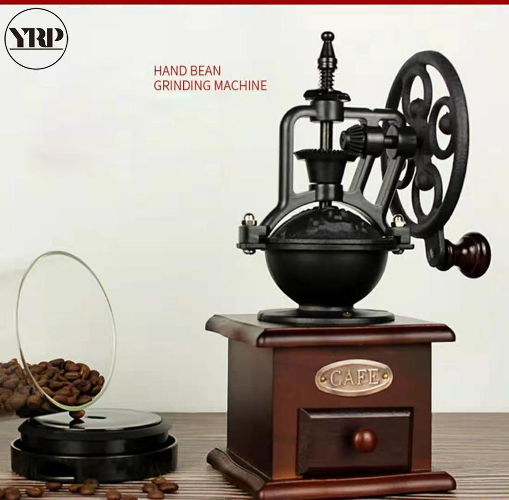 YRP broyeur à café accessoires de cuisine   Décoration de maison, outils de barista, roue à Ferris rétro moulin à café moulin à poivre moulin à épices