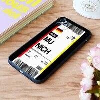 for iphone german munich boarding pass flight ticket print soft matt apple iphone case 6 7 8 11 12 plus pro x xr xs max se