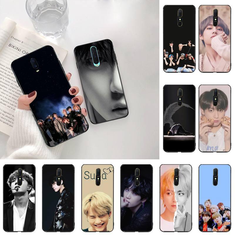 Yjzfdyrm rap rm jimin jin suga j esperança v jung kook diy impressão caso de telefone para oppo a5 a9 2020 reno2 z renoace 3pro realme5pro