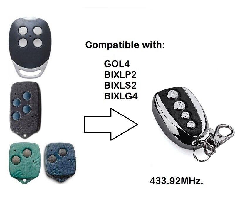 Для GOL4,BIXLP2,BIXLS2,BIXLG4 Rolling code 433 копировальный аппарат mhz совместимый пульт дистанционного управления гаражной дверью Бесплатная доставка
