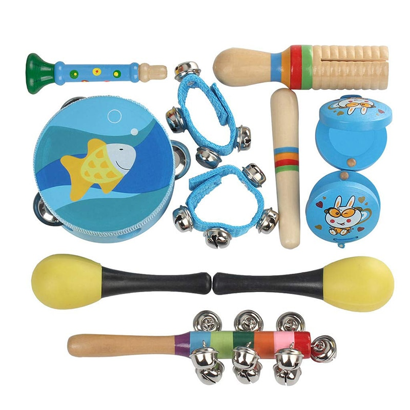 1pc triangle orff musical instruments band percussion educational musical triangolo for children 5 6 7 8 inch kid child gift 10Pcs/Pack Musical Instruments Set Infant Toddler Children Early Childhood Educational Music Percussion Toy Combination Kit