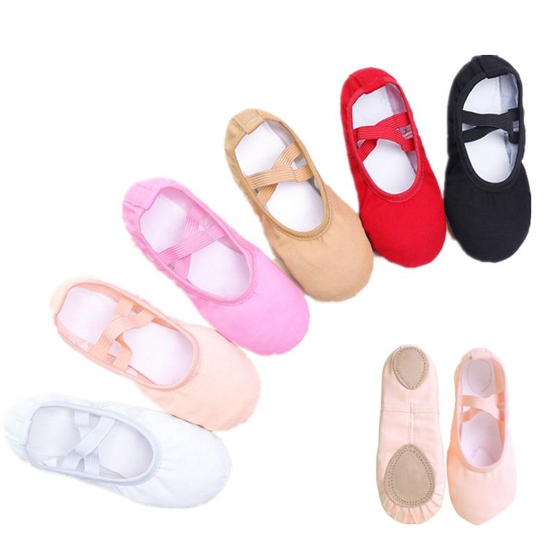 Girls Kids Pointe Shoes Dance Slippers High Quality Ballerina Practice Shoe For Ballet 6 color Ballet Dancer Professional Shoe