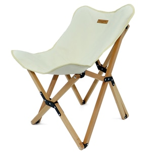 Outdoor Camping Barbecue Solid Wood Beech Butterfly Chair Outdoor Camping Equipment Portable Canvas Folding Chair Recliner