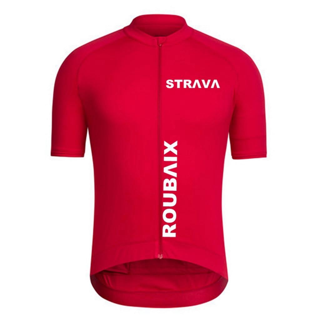 STRAVA-Camiseta de Ciclismo profesional para hombre, Ropa transpirable de secado rápido para...