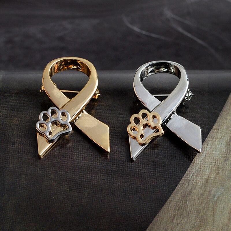Écharpe en forme de chien pattes creuses chat chaton broche broches or pull broche Badge cadeau bijoux pour femmes fille enfants 2020 nouvelles broches