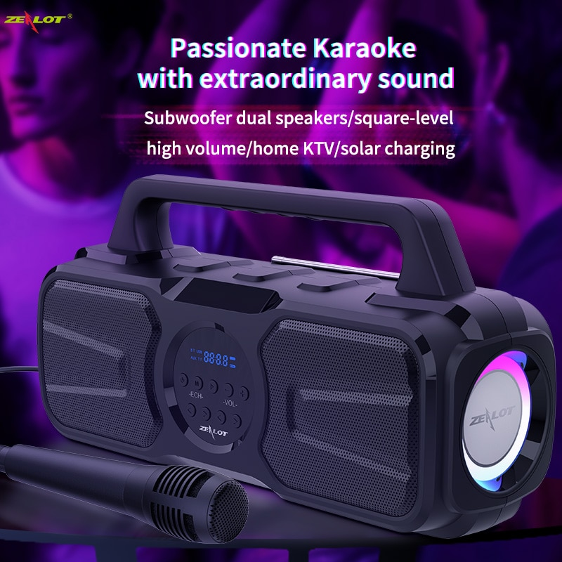 Powerful Bluetooth Speaker with Mic Wireless Portable Column Home Theater Music Center System 4D Stereo Subwoofer caixa de som enlarge