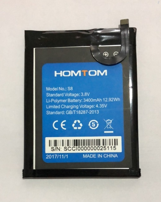 Mobile phone battery HOMTOM S8 battery 3400mAh Original battery 5.7inch MTK6750 Mobile Accessories Original battery enlarge