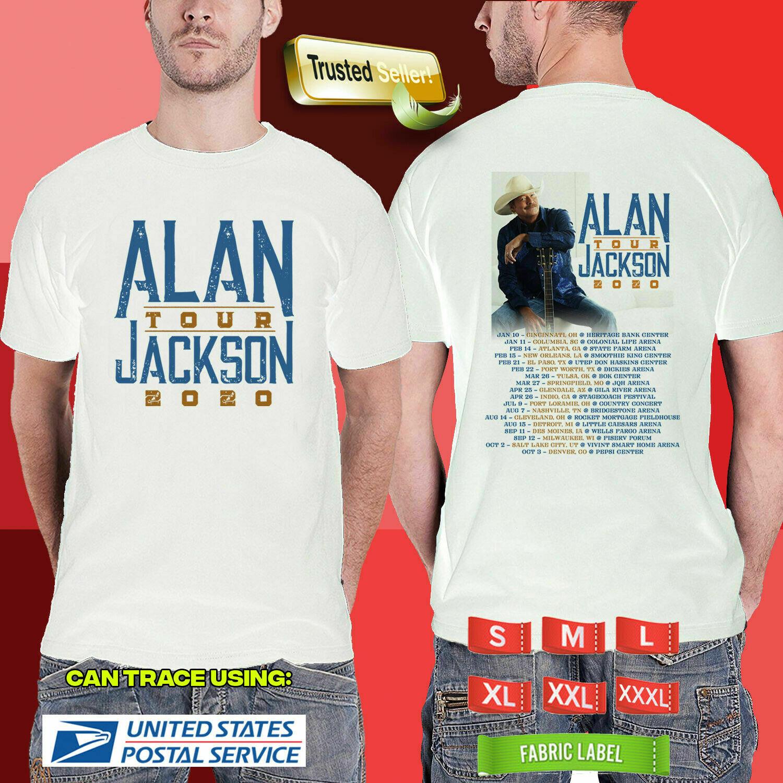 Белая футболка с длинными рукавами Alan Jackson The Tour 2020 W22