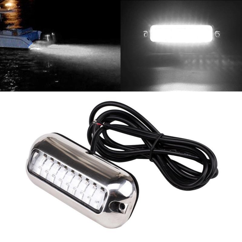 27 LED Luz de pesca submarina 12V luz de cruce de barco luz de noche paisaje de agua iluminación para barcos marinos accesorios marinos 50W