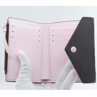 high quality luxury wallet womens multifunctional fashion wallet 100 real leather folding wallet with gift box package m41938