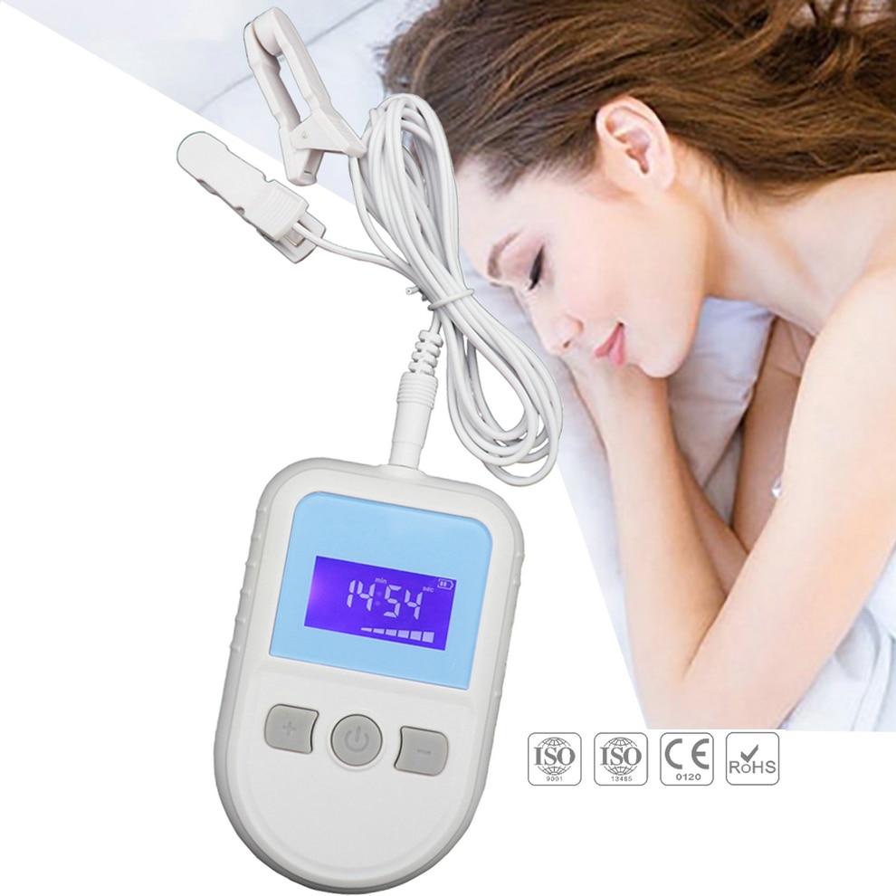 Estimulador electrónico de acupuntura antiinsomnio, terapia CES, ansiedad, instrumento de terapia de pulso de baja frecuencia