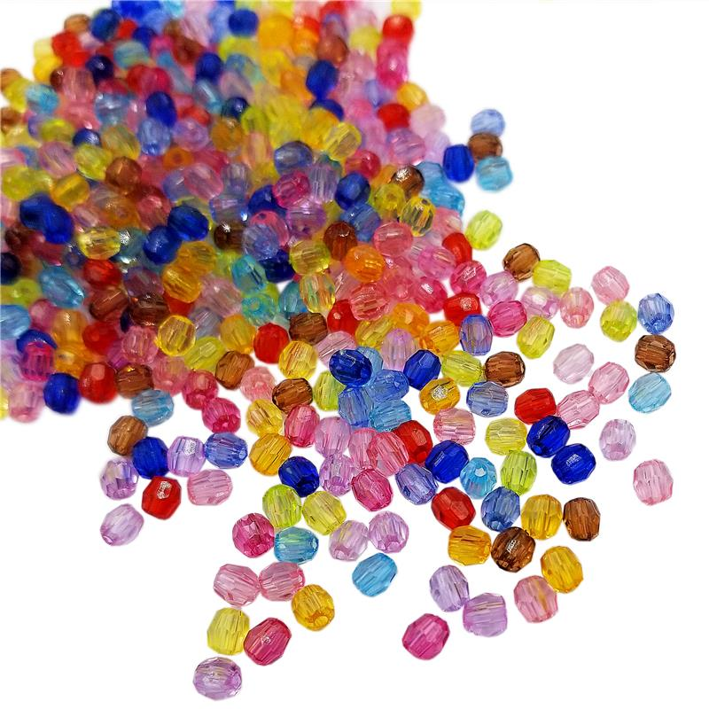200Pcs 4mm Transparent Round Glass Austria Faceted Crystal Bead For DIY Necklace Jewelry Making Accessories Colorful Ball Beads