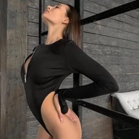 2020 casual women bodysuit warm long sleeve rompers zipper milk silk jumpsuit fashion streetwear outfits overalls black white