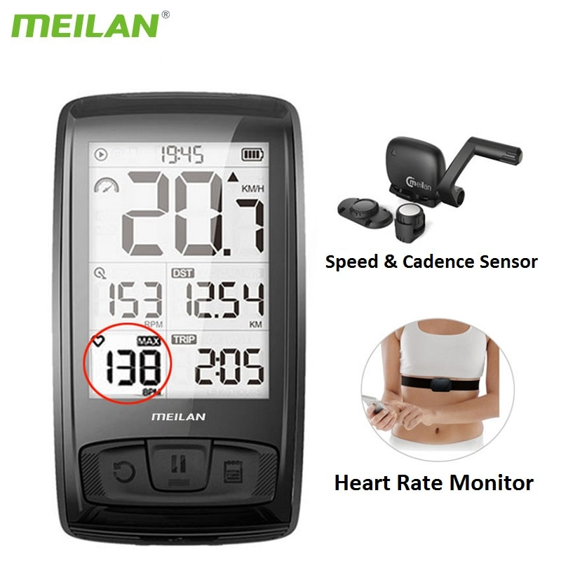 Meilan M4 Wireless Bicycle Computer Road Cycling Bike Speedometer Speed Cadence Sensor MTB Bluetooth ANT+ Heart Rate Monitor