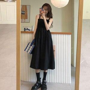 2020 New Summer Korean Style Sense of Design Graceful Slip Dress Mid-Length Dress for Women kawaii clothing sweet lolita dress