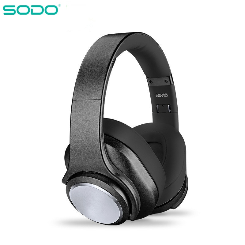 SODO MH10-سماعة رأس بلوتوث 5.0 قابلة للطي ، سماعة رأس استريو هاي فاي ، 2 في 1
