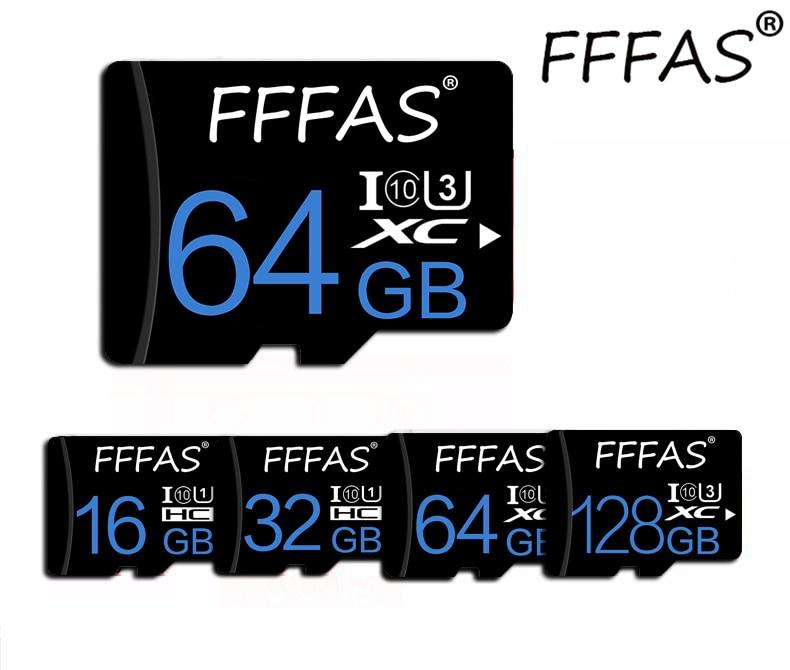 Cartão 128 tf do cartão UHS-1 do microsd para a câmera esperta da almofada do telefone com cartões de memória flash livres 8gb 16gb 32gb 64gb do adaptador sd micro