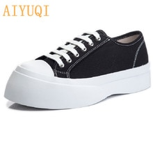 AIYUQI Canvas Shoes Women 2021 New Summer New  Ladies Casual Sneakers Flat Shallow Mouth Tide Women'