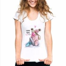 Super Mom Female T-shirt Mothers Day Harajuku Kawaii White Tshirt New Arrival 2019 T Shirt Tee Shirt Mama Tops Korean Clothing