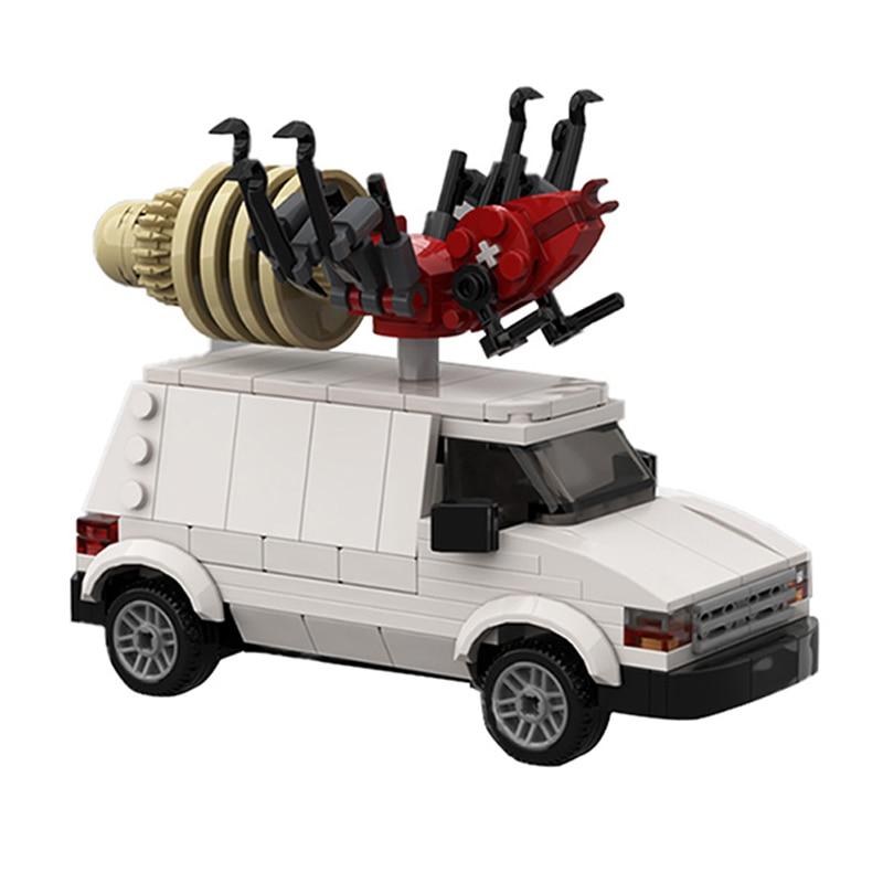 moc Creators Expert The Bugabago Car King of the Hilled Dodged Caravan C/V Cargo Van Technical Truck Building Blocks Toys