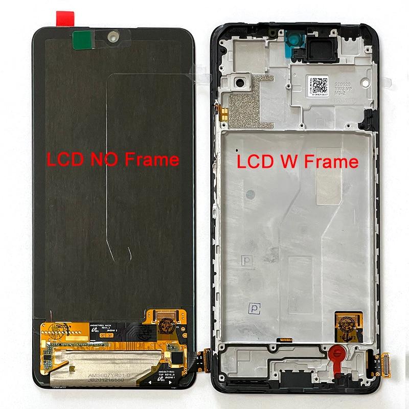 الأصلي ل شاومي Redmi نوت 10 برو M2101K6G LCD عرض إطار الشاشة لوحة اللمس محول الأرقام ل Redmi نوت 10 برو ماكس M2101K6I