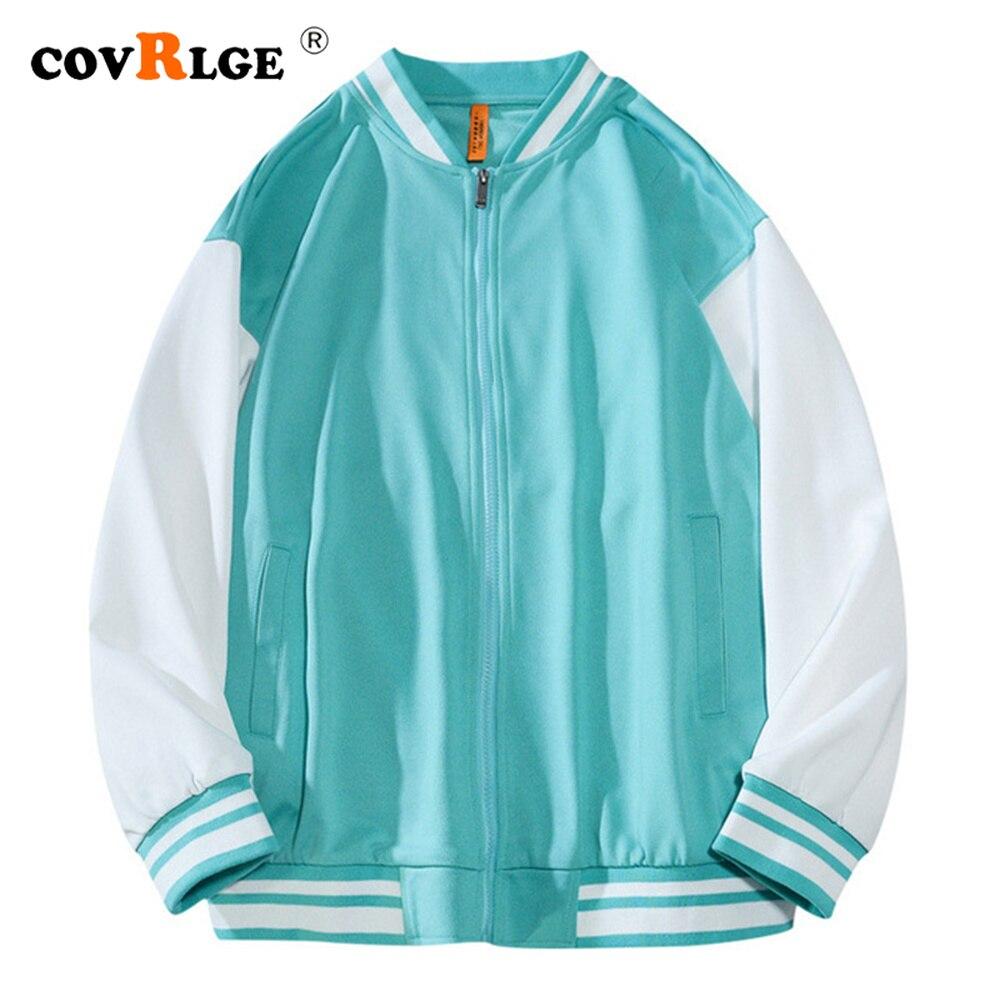 Куртка Covrlge Мужская демисезонная, свободная верхняя одежда в японском стиле, хлопковая спортивная бейсбольная форма, уличная одежда MWJ242