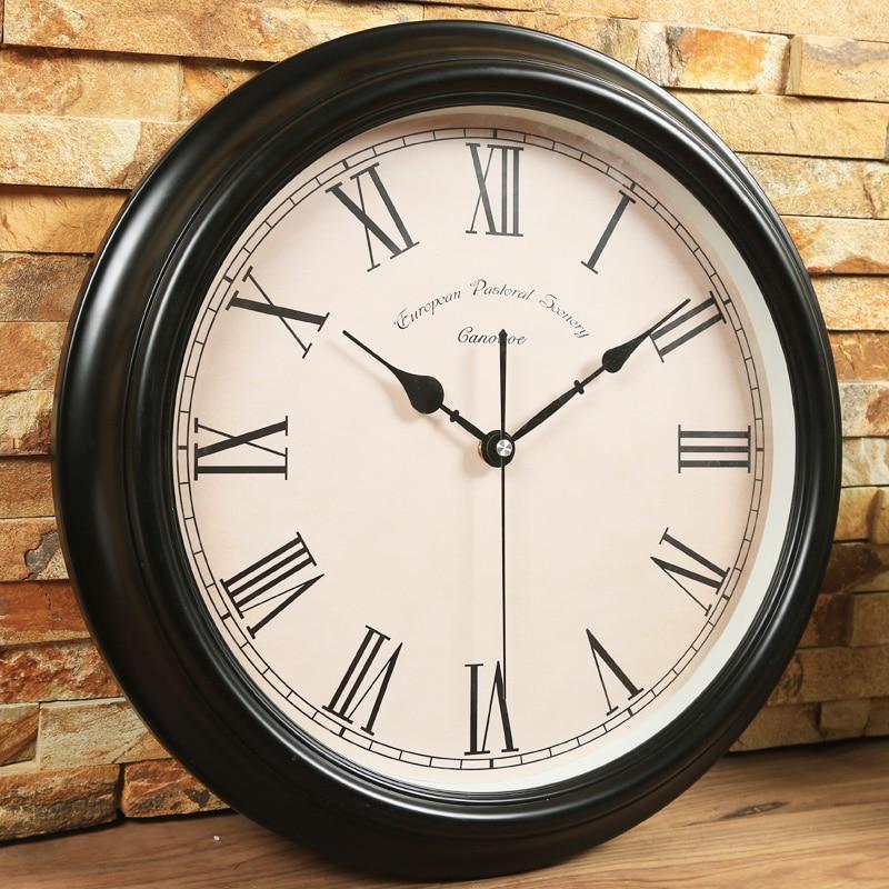 Décoratif chambre horloge murale Vintage bois rétro moderne grande cuisine horloges murales décoratif salon décoration de la maison II50BGZ