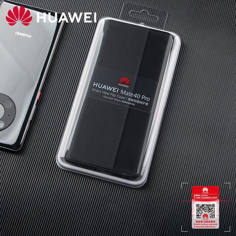 جراب Huawei Mate 40 Pro الأصلي ، جراب سيليكون ذكي بغطاء جلدي 360 ، مقاوم للصدمات ، مغناطيسي ، جودة عالية