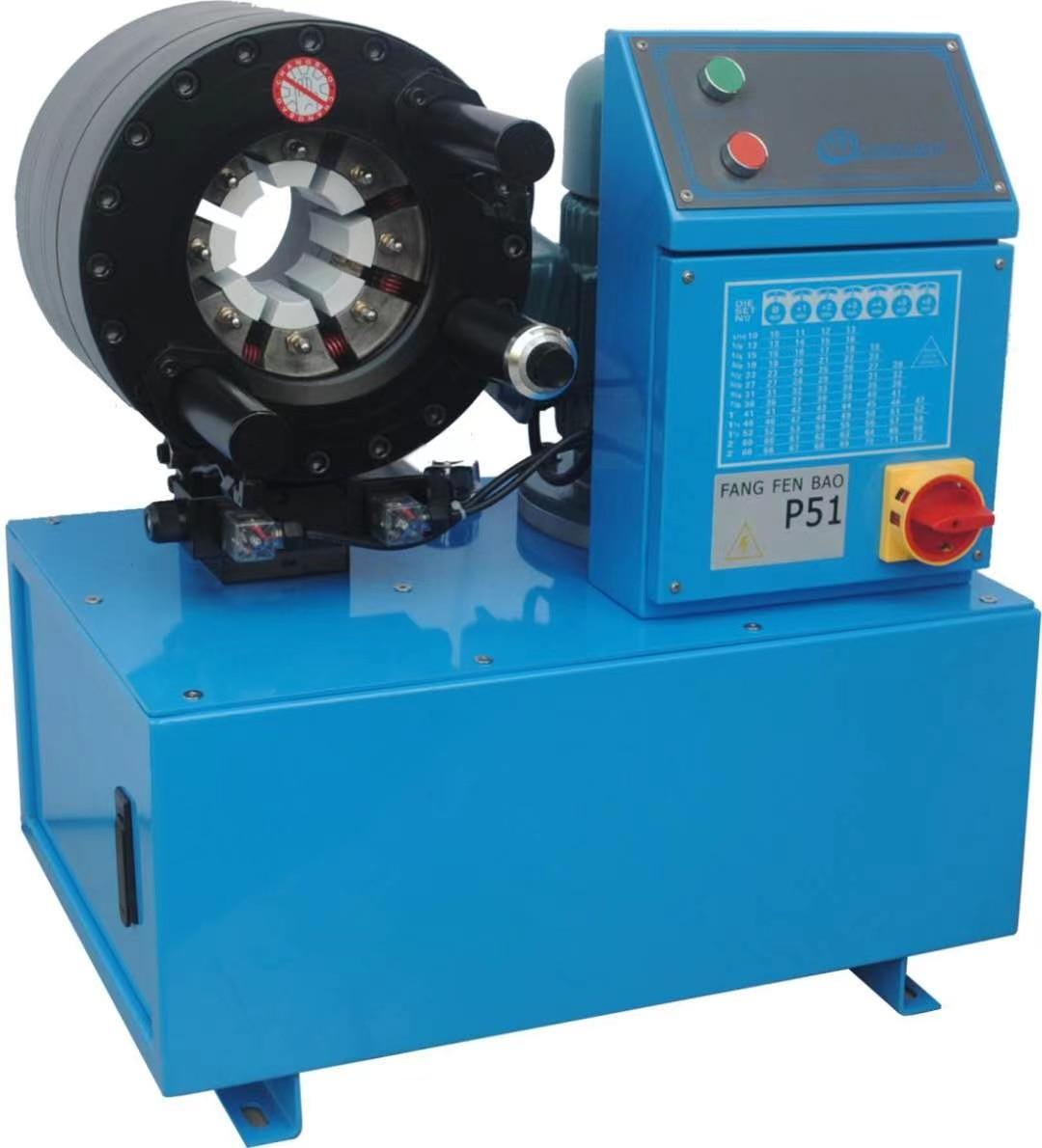 220 فولت العقص آلة الهيدروليكية خرطوم ترقية شهادات CE HZ-P51 الهيدروليكية خرطوم